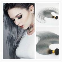 اثنين من لهجة اللون أومبير الشعر اللحمة البرازيلي مستقيم الشعر التمديد الإنسان ريمي الشعر حزم 100G / قطعة