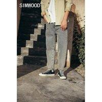 SIMWOOD 2020 осень одежды мытой Сыпучие Конических пят Джинсы Повседневные Джинсовые брюки 100% хлопок SJ120763