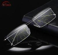 Sunglasses SCOBER = Titanium Alloy Business Elite Intelligence Progressive Multifocal Commercial Reading Glasses Bifocal +1 +1.5 TO +4