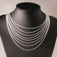 Di alta qualità argento 925 2MM catena di torsione corda Necklaces16inch / 18inch / 20inch / 22inch / 24inch / 26inch / 28inch / 30inch all'ingrosso