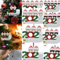 2020 Weihnachten Weihnachten Hanging Ornaments Familie Survivor Quarantäne-Baum-Dekor-PVC schwarz weiß 2 3 4 5 Familie Personalisierte Anhänger LJJK2482