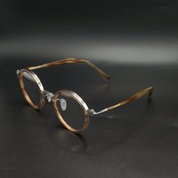 أزياء النظارات الشمسية إطارات خلات جولة النظارات الإطار الرجال النساء الرجعية نظارات العين للصيانة البصرية وصفة النظارات خمر