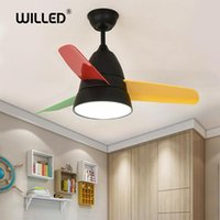 Macaron led Ceiling Fans with light 36w 26 inch 36 inch remo...