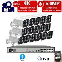 H.265 + 16CH 4K 8MP Poe NVR كيت CCTV كاميرا نظام AI Ultra HD 5MP في الهواء الطلق ماء الأمن IP كاميرا مراقبة الفيديو