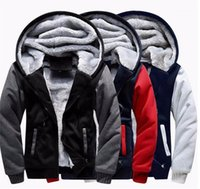 Mens Cardigan Hoodies Fashion Thick Zipper Coat Casual Long ...