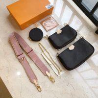 Женские кошельки плеча изящные композитные цепи мешки на молнии Artsy Multi Pochette аксессуары Mahjong сумка 7А высокого класса известные сумки Borsa