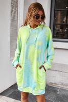 Kadın Giysi S Tişörtü Femme Yeni Moda Sıcak Baskılı Kapüşonlular Cep Uzun Kollu Sonbahar Kış Casual Streetwear 203052 Tops