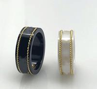 18 كيلو الذهب حافة زوجين الدائري الأزياء خطاب بسيط حلقة جودة السيراميك مادة الدائري الأزياء والمجوهرات العرض