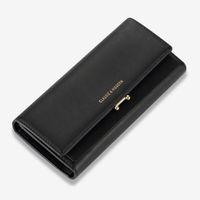 Europäische und amerikanische Frauen große Kapazität Portemonnaie Pu lange dreifache Handtasche lange Geldbeutel-Handtaschen