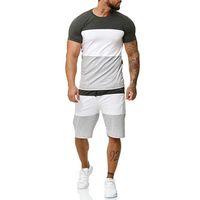 새로운 운동복 2 조각 남성은 남성 의류 스포츠웨어 세트 피트니스 여름 남성 반바지 + t 셔츠 남성 캐주얼 정장 4XL 인쇄 설정