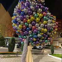 100pcs 10inch 12inch 크롬 금속 라텍스 풍선 금속 핑크 로즈 골드 풍선 결혼 생일 파티 장식 키즈 장난감 공기 글로브