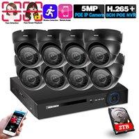 Systèmes de détection de visage H.265 Poe 5MP Vidéo SURVEILLANCE KIT 8CH NVR CCTV Système 5Megapixels Security Security Caméra IP