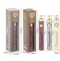 Kalın Petrol Kartuşları BK Pil Brass Knuckles Pil E Sigara Vape Kalem 900mAh Piller Altın Ahşap SS Onceden VV Piller