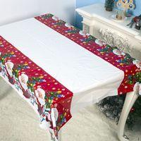 180 * 110CM عيد الميلاد مفرش المائدة سانتا كلوز مطبوعة مستطيل PVC سماط السنة الجديدة حزب عشاء عيد الميلاد الجدول ديكورات