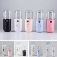 5 cores Mini Nano névoa pulverizador Facial pele do corpo Nebulizador Steamer Hidratante Cuidados Ferramentas 30ml Rosto spray Party Favor YYA416-2 50pcs