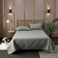 3pcs Bettwäsche gesetzt reiner Farbe Bettwäsche-Set Bettdecke Bettdecke Matratzenbezug Decke flache Platten + Kissenbezug Home Textile