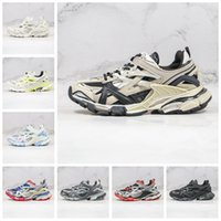 2020 NEUE TRACK.2 Sneaker Triple S Schwarz Weiß Orange Tripler Paris Herrenschuhe Plattform Sport Womens Sneakers Trek Mens Trainer Dad Schuhe