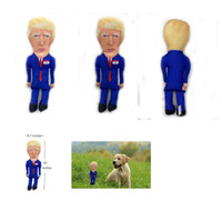 Donald Trump Parody Dog Chew Toy with Squeaker Sound Trump Plush Doll Accents Fun Entertaining Novelty Gift Party Favor CCA12553 500pcs