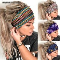 INS Lady Tie Dye Turban Bandeaux Dégradés couleurs bandeau Lady fille Sport Yogo Accessoires cheveux