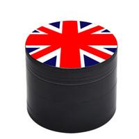 Nation Flag Metall Grinder 50MM Zink-Legierung Herb Grinders 4 Schichten Tabak Gewürzmühlen mit Pollen Catcher Rauchzubehör GGA3713-4