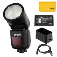 Godox V1 Rodada Ring Flash ajustável Luz headl 2.4G sem fio com bateria para Compatível