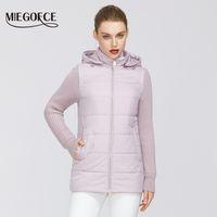 MIEGOFCE Yeni Bahar Kadın Koleksiyonu Ceket Windproof Çift Malzeme Fermuar Ceket Shortthwith Dayanıklı Yaka 200.919