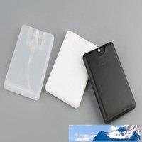 포장 병 승진 빈 20ml 플라스틱 블랙 신용 카드 모양 포켓 향수 여성 화장품 컨테이너 작은 스프레이 포장 공장 가격 전문가 디자인