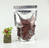 Встаньте полупрозрачный Алюминиевая фольга Пластиковые Ziplock сумки, 100шт Self-стоя майларовую Покрытие Макароны упаковки продуктов питания мешок Zipper Resealable