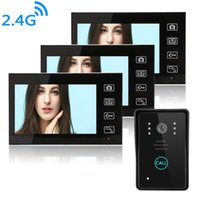 7-Zoll-Wireless Video-Türsprechanlage Snapshort Intercom-System Schalt IR-Nachtsicht-Kamera