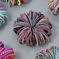 Neue 100 teile / los Haarschmuck Mädchen Candy Farbe Elastische Gummiband Haarband Kind Baby Stirnband Haarschmuck