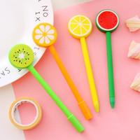 الليمون فاكهة أقلام حبر جاف الإبداعية جل القلم كارتون قلم حبر جاف الفواكه و الخضروات شكل أقلام حبر جاف
