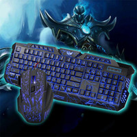 professional Gaming keyboard and Mouse Set 3color LED 5500DP...