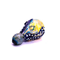 New Arrived Octopus Glass Pipe Colorful Glass Smoking Pipes Wholesale Hookah Spoon Pipes Heady Tobacco Hand Pipe