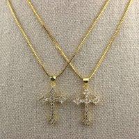 16inch 10pcs lot Cross cz pendant charm necklace,fashion cubic zirconia micro pave cross pendant necklace,cz jewelry wholesale
