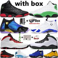 Jumpman Yüksek OG Erkekler Basketbol Ayakkabı Hiper Kraliyet 14 14s kirli Bred 13s Şanslı Yeşil Top 10 10s Erkek Spor Spor ayakkabılar Boyutu 13