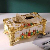 Boîtes de mouchoirs pour boîtes de mouchoirs pour boîtes à pandulations Imuwen Acrylique Box Castle Européenne Paper Rack Bureau Table Accessoires Accueil KTV EL Car Coque faciale