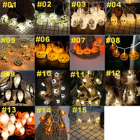 Halloween LED Lights Pumpkin Lights 1.5m 10 Led String Lights Skull Spider Lamp For Holiday Xmas Halloween Party Decorations Wholesale