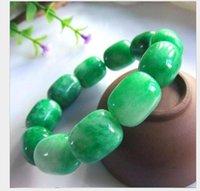 Bracciale Jade Passepartout smeraldo secco verde giada Barrel Bead braccialetto Full Color imperatore Verde Ferro Drago di Giada