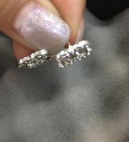 Luxe Lettre Boucle d'oreille Styliste Bijoux Or Argent Couleur strass Stud Oreille pour les femmes Lady cadeau