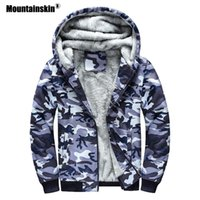 Mountainskin Camouflage Hoodies Herbst-Winter-Manntrainingsnazug Thick Armee Mäntel Herren Sweatshirts Fleece mit Kapuze Jacken 5XL SA689 T200907