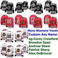 Zima Classic Chicago Blachawks Jersey 88 Patrick Kane 7 Chris Chelios 9 Bobby Hull 19 Jonathan Toews Hockey Koszulki Zwykłe Szyte