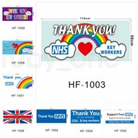 UK-Hauptwand Banner Flaggen Danke NHS Flag Vereinigtes Königreich Regenbogen Printed Flags 50 * 110cm von kingroom RRA3547