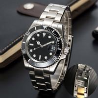 Relojes de cerámica mecánica automáticos para hombre 41mm de acero inoxidable completo de acero inoxidable broche de natación Relojes de pulsera de zafiro Luminoso Montre de Luxe