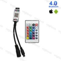 RGB-Controller Bluetooth 24Keencontroller IR DC5-24V mit App DC Connect 4pin Beleuchtung Zubehör für 5050 3528 LED-Band-Tape-Eub