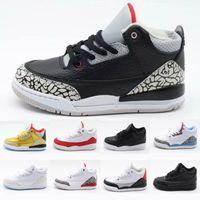 Quente branco preto cimento infravermelho 23 lobo cinzento crianças sapatos de basquete sapatilhas para homens jumpman 3 3sports Treinadores tamanho 28-35