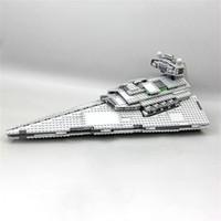 UE US en stock 05062 1359PCS Super Star Imperial Star Destroyer Bâtiment Bâtiment Briques Briques Jouets pour enfants Cadeau de Noël 75055