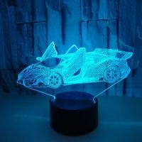 Creative 3D Petite Table Lampe Publicité Cadeau Creative Cadeau 3D Visual LED Lumières de sport Voiture Coloré Touch Switch Switch Light de nuit