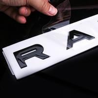 10PCS السيارات التصميم هود الجذع شعار شارة لاصقة على سيارة رينج روفر إيفوك الرياضة DISCOVERY ABS السيارات التصميم جذع شعار رسائل Emblemcar التصميم