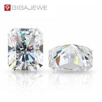 GIGAJEWE D Top Color Radiant Cut Муассанит Сыпучие Алмазный тест пройден драгоценный камень для изготовления ювелирных изделий Подарочный сертификат