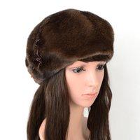 Bere Şapka Kadınlar Kış WRAM Moda Rus Kadın Kürk Şapka Çiçek Lüks SARSALLYA Marka